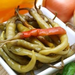 Marinated Banana Peppers with Olives