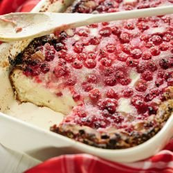 Clafoutis with Apples and Raspberries