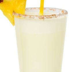 Caribbean Drink with Coconut and Pineapple