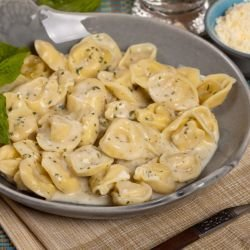 Do it Yourself Tortellini with Cream Sauce