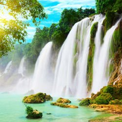 Most beautiful waterfalls,  -  Detian Waterfall