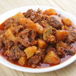 Lamb Curry with Potatoes (Jeera Aloo Salan)