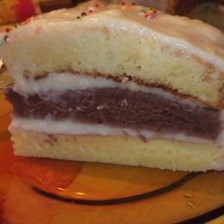 Homemade Cake with Cream