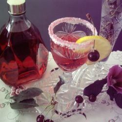 Homemade Sour Cherry Liqueur