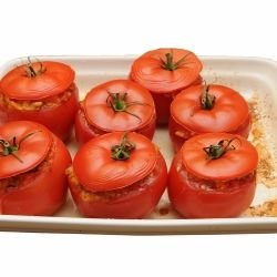 Tomatoes Stuffed with Rice and Mushrooms