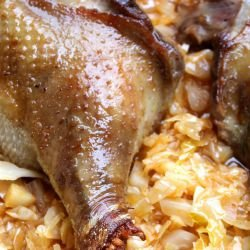 Roasted Goose with Sauerkraut