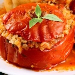Turkish-Style Stuffed Tomatoes