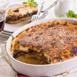 Moussaka with Zucchini and Eggplants