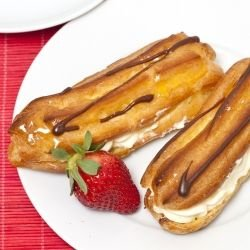 Eclairs with Dairy Cream