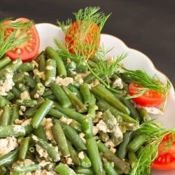 Green Beans with Eggs