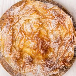 Sweet Phyllo Pastry Pie with Quinces and Wheat
