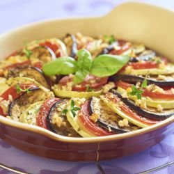 Tian with Zucchini and Eggplants