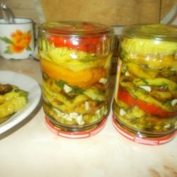 Fried Peppers with Honey Marinade