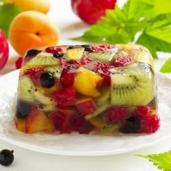 Lemon Jelly with Fruits