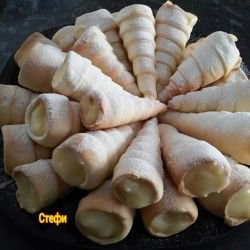 Cones with Sugary Cream