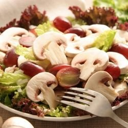 Mushroom Salad with Cheese