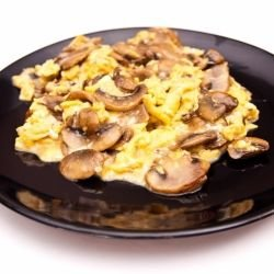 Fresh Mushrooms with Eggs