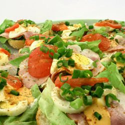 Chicken Salad with Tomatoes