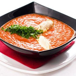 Quick Tomato Soup with Fish