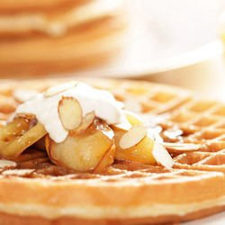 Homemade Waffles with Yoghurt