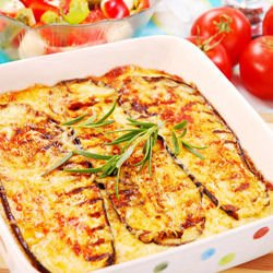 Eggplant Moussaka with Cheese
