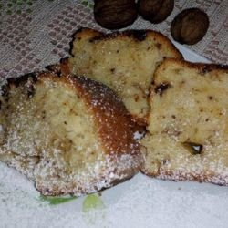 Greek Cake with Chocolate and Raisins