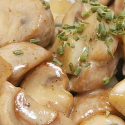 Mushroom Sauce with Processed Cheese