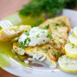 White Fish with Mustard