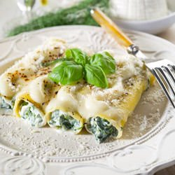 Spinach and Cottage Cheese Cannelloni