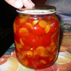 Red Bell Pepper and Carrot Pickle