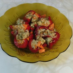 Bell Peppers Stuffed with Carrots and Cabbage