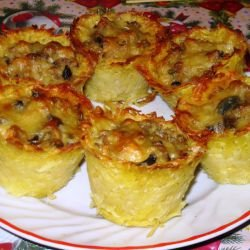 Potato Baskets with Mixed Filling