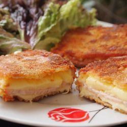 Fried Cheese with Ham