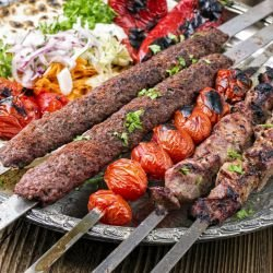 Kebab with 2 Types of Meat