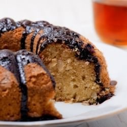 Cake with Tea and Jam