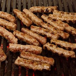 Kebapcheta on a Grill