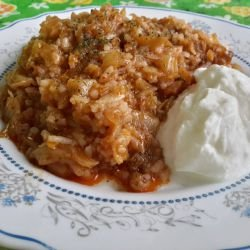 Roasted Sauerkraut with Rice