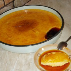 Country-Style Creme Caramel in a Tray