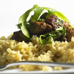 Lamb with Cheese and Couscous