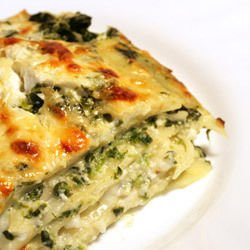 Lasagna with Carrots and Leeks