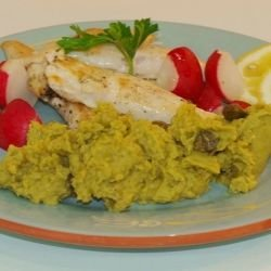 Lavender Chicken with Mint and Pea Puree