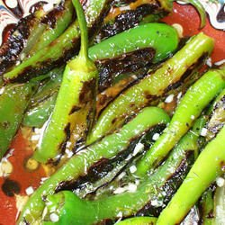 Fried Banana Peppers with Vinegar and Garlic