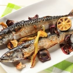 Baked Mackerel with Parsley and Walnuts