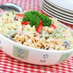 Rainbow Pasta Salad with Tuna