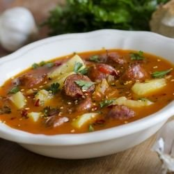 Easy Soup with Sausages