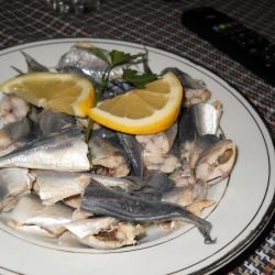 Marinated Jack Mackerels with Onions and Lemon