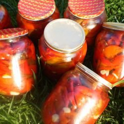 Marinated Bell Peppers in Jars