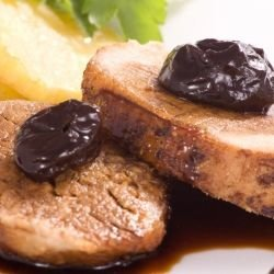 Pork Chops with Plums