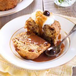 French Muffins with Cognac Sauce