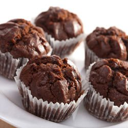 Muffins with Three Types of Chocolate